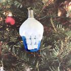 Figural Christmas Light Bulb Snowy Lantern Tested Working C-6 Vintage Milk Glass
