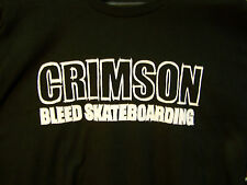 CRIMSON Skateboards T-Shirt  -NEW!-  LARGE - Skateboard