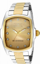 Invicta Lupah 15853 Men's Silver Gold Tone Analog Tonneau Stainless Steel Watch