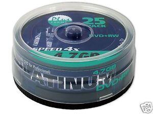 Platinum DVD+RW - 4.7 GB 4x - 25er Spindel (100603)
