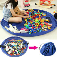 Portable Kids Toy Storage Bag For Lego & Games, Kids Play Mat Large 150cm