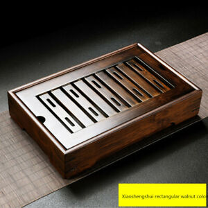 Natural Bamboo Gongfu Tea Tray Chinese Serving Table Medium Size For 1-2 People