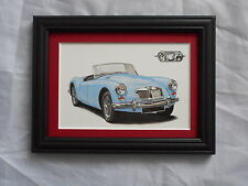 Classic Cars MGA Stunning Framed & Mounted Postcard **Offers**