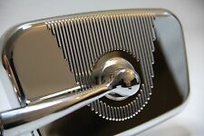 CLASSIC FIAT 500 MINI CHROMED MIRROR 'Rectangular' Design RIGHT CLASSIC CAR