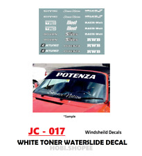 JC-017 White Toner Waterslide Decals> WINDSHEILD > For Custom 1:64 Hot Wheels