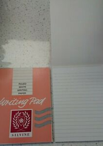 Writing Pad Ruled White Silvine 40 Sheets Duke 175mmx135mm -Ideal for letters