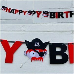 PIRATE BIRTHDAY BANNER PERSONALISED PARTY DECORATION 1st 2nd 5th 6th 4th bunting
