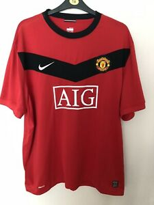 Manchester United Home Football Shirt 2009-2010 Nike *Size 3XL