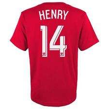 Thierry Henry MLS Adidas New York Red Bulls Red Player Jersey T-Shirt Youth S-XL