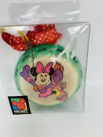 Vintage Disney Unlimited Ice skating Minnie Mouse Decoupage Ornament Org package