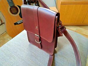 Spanish leather bag. Brown. Satchel design. Handmade.
