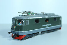 HAG 158 SOB Re 4/4 III grün mit grauer Schürze, rote Bahnräumer, WS - mit OVP