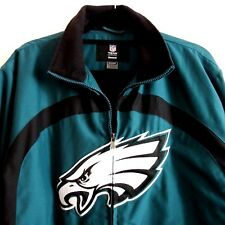 Phila Eagles Embroidered Logo Fleece Lined Zip Front Jacket Mens S 2018 Champs