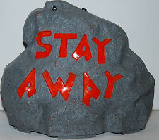 Halloween  Light Up Haunted Rock (Stay Away)