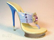 Pearly Gates Hues Blue Purple Cluster Pearls & Rhinestones Just the Right Shoe