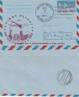 US 1959 TWA FAM 27 FIRST FLIGHT FLOWN AIR LETTER NEW YORK NY TO ROME ITALY