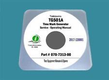 """Tektronix TG501A TM500 Generator Plug-in Service Manual With 25""""x11"""" Diagrams"""