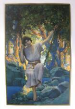 ORIG 1925 DREAMLIGHT EDISON MAZDA GE CALENDAR SMALL TOP ORIG FRAME CRISP COLOR