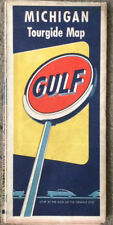 1950 Gulf Oil Company Michigan Road Map