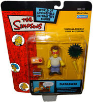 Simpsons Database Action Figure MOC WOS Series 12 RARE Toy Intelli-Tronic