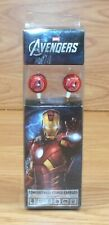 Genuine Marvel Avengers 3.5mm Jack Iron Man Red Ear Buds in Box **READ**