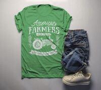 Men's Vintage Farmer T-Shirt American Farmers Tractor Tee Farm to Table Shirt