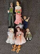 Dolls house accessories 1:12 scale. Mixed Bundle of figures.