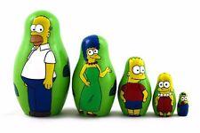 Matryoshka Family Simpsons Favorite Characters Russian Nesting Doll 5 Pcs