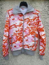 Veste ADIDAS camouflage orange Trefoil tracktop jacket giacca jacke femme 38 D36