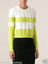 KENZO Green wool blend embellished sweater - 2014FW 790 USD size S