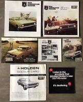 1969 Holden original Australian sales brochure & colour card pack.