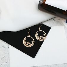 For Girl's Circle Tassel Drop Dangle Mermaid Tail Earrings Hook Earring