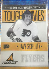 Dave Schultz 2010-11 Pinnacle Tough Times #DS Insert - Philadelphia Flyers