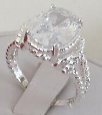 Avon .925 Sterling Silver Genuine Diamond Leaf Accent Ring - 5 6 7 8 9 8