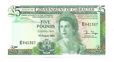 More details for 1988 unc gibraltar £5 five pound banknote 4th august uncirculated