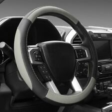 Black and Gray Microfiber Leather Steering Wheel Cover For F-150 Tundra Range