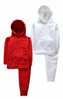 Girls Tracksuit New Kids Baby Heart Flower Hoodie Joggers Set 6 12 18 24 Months