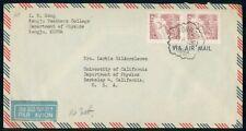 Mayfairstamps Korea 1961 Kongju to Berkeley Ca University dept of Physics Cover