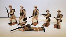FUSILIER MINIATURES WW2 BRITISH ACTION SET NO 1 6 X FIGS ( N AFRICA )  (BS619)