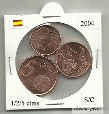 // 1 + 2 + 5 centimos euro España 2004 SC . euro cents spain \