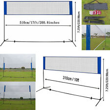17/10' Height Adjustable Badminton Tennis Volleyball Net Stand Multi-Purpose