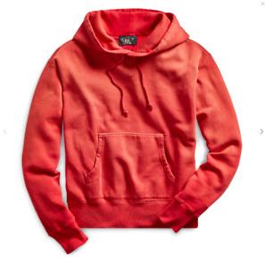 RRL Ralph Lauren Vintage Inspired Pullover Cotton Blend Fleece Hoodie- XXL