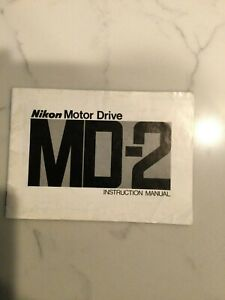 Nikon MD-2 Motor drive Instruction Manual 32 Pages Pronted 11/1977