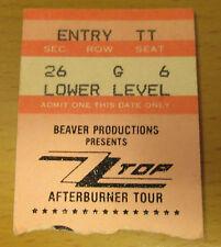 1986 ZZ TOP PORTLAND CONCERT TICKET STUB AFTERBURNER TOUR LEGS LA GRANGE TUSH