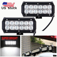 "2× 36W 7"" Flood Beam LED Work Light Driving Fog Lamp 4WD TRUCK SUV UTV Boat"