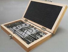 16 pcs Stainless Steel Wax Carving Set Soap Clay Modelling Sculpting Dental+ BOX