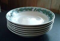 Oneida Berry Holidays Majesticware Soup Pasta Bowls Christmas Stoneware Lot of 6