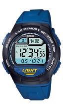 Casio  W-734-2A   Digital  100m  Sport  Watch  60  Lap Memory  Blue   W734