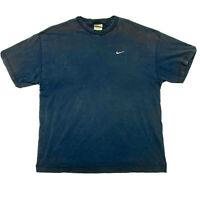Vintage NIKE Short Sleeve Small Check Swoosh Logo T Shirt Men's Size XL Blue