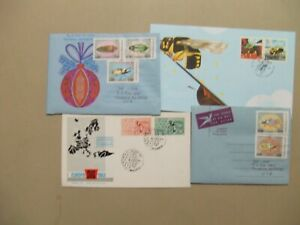 Four covers with INSECT stamps:two aerograms,two fdc